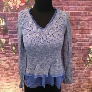 Anthro Knitted & Knotted Alpaca Blend Sweater S